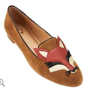 C. Wonder Carlotta Fox Embroidered Suede Loafers